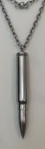 Pendentif et Diffuseur de parfum. Balle 12,7 en titane, contenance 6cl. H: 10cm. dans PENDENTIF TITANE sdc15333-92x300